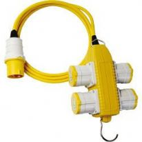 Brennenstuhl Extension Cable with 4-Way Powerblock - 14m